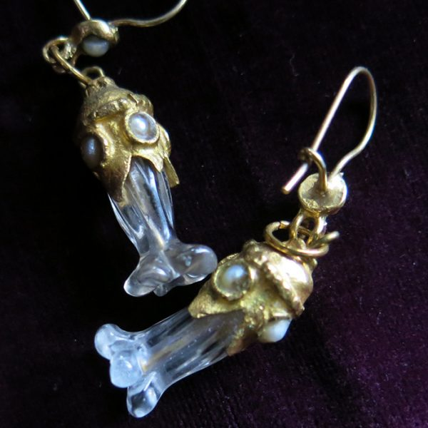 IRAQ NAJAF, quartz earrings