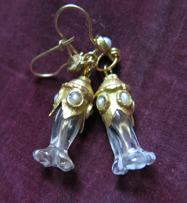 IRAQ NAJAF, quartz earrings