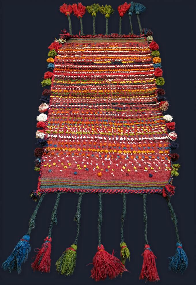 PERSIA - SHIRAZ LURI tribal baby cradle kilim