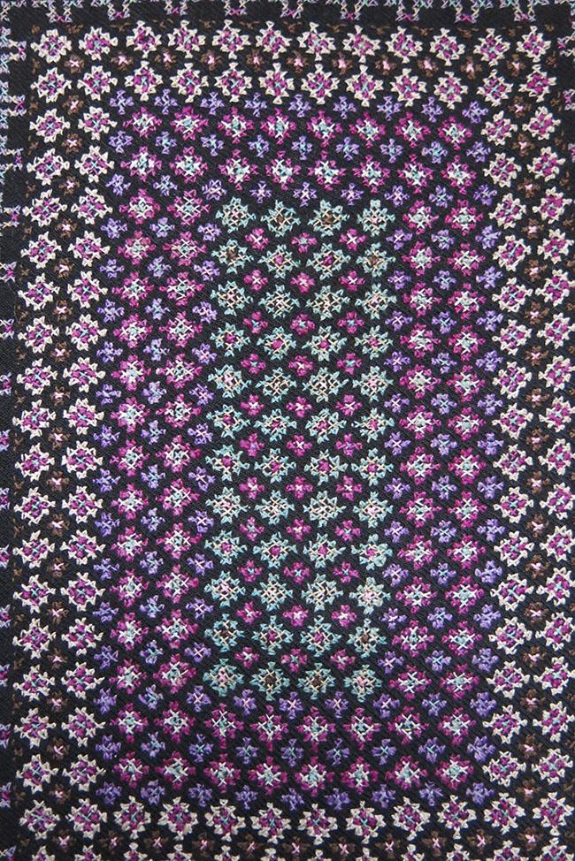 PERSIA – TEHRAN DERVISH silk embroidered bag face