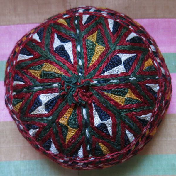 AFGHANISTAN TURKMEN ERSARY silk embroidery hat