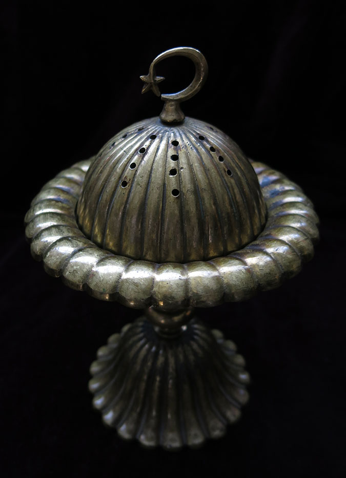 TURKEY – ISTANBUL SULEYMANIYE OTTOMAN antique bronze incense burner