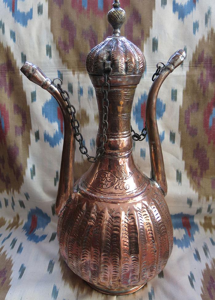 SULEYMANIYE / SOLEYMAN double beaked copper pitcher