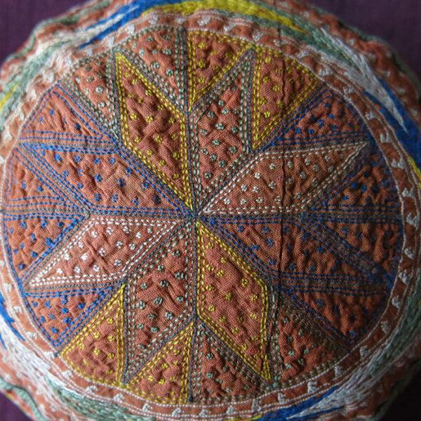 PERSIA KHORASAN Turkmen Ethnic Silk embroidery hat