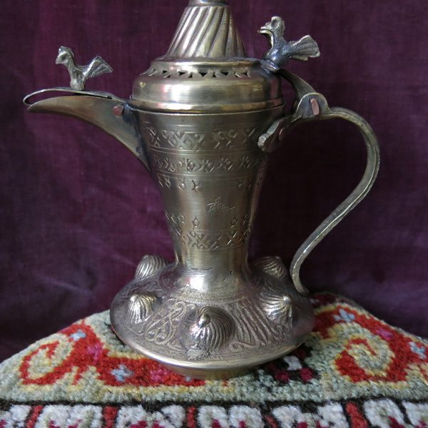 SYRIA DAMASCUS Ottoman style handmade brass coffee pot