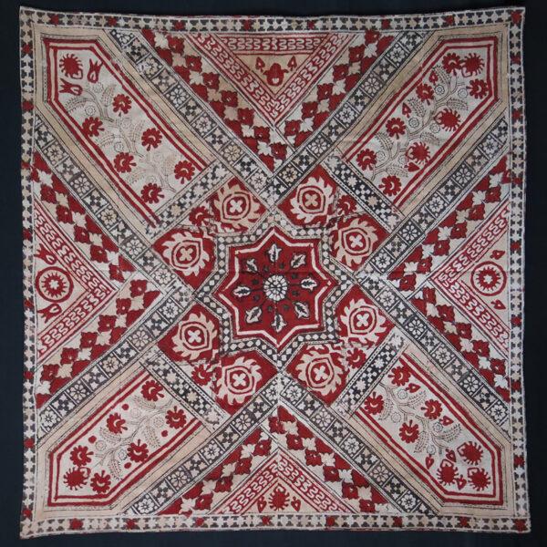 UZBEKISTAN – TASHKENT natural dye block printed cotton textile
