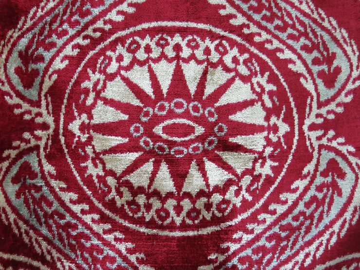 UZBEKISTAN - FARGAN VALLEY Silk revival VELVET IKAT