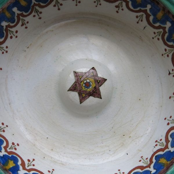 TURKEY WEST - KUTAHYA - Antique ceramic glazed bowl