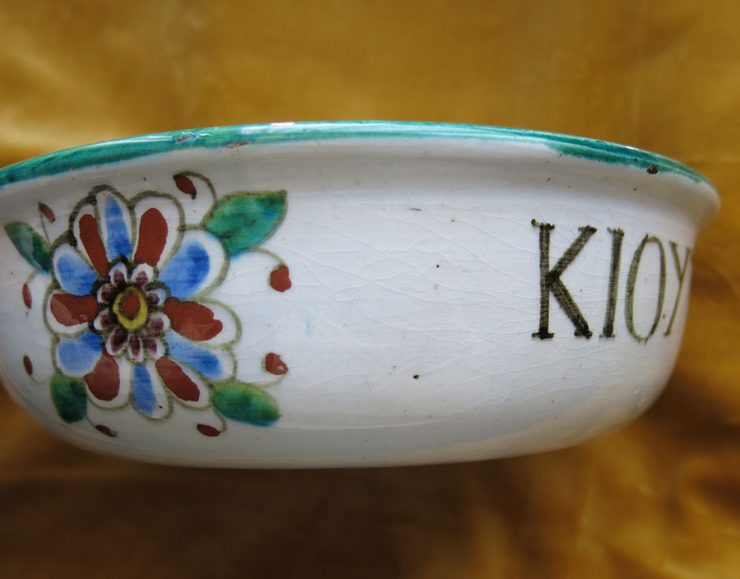 TURKEY WEST - KUTAHYA - Antique ceramic glazed bowl