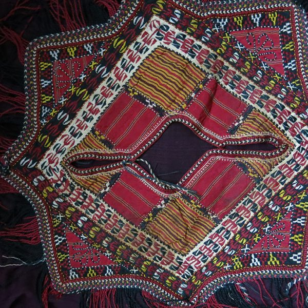 TURKMENISTAN Turkmen Yomud/Tekke tribe child's over shirt patchwork collar
