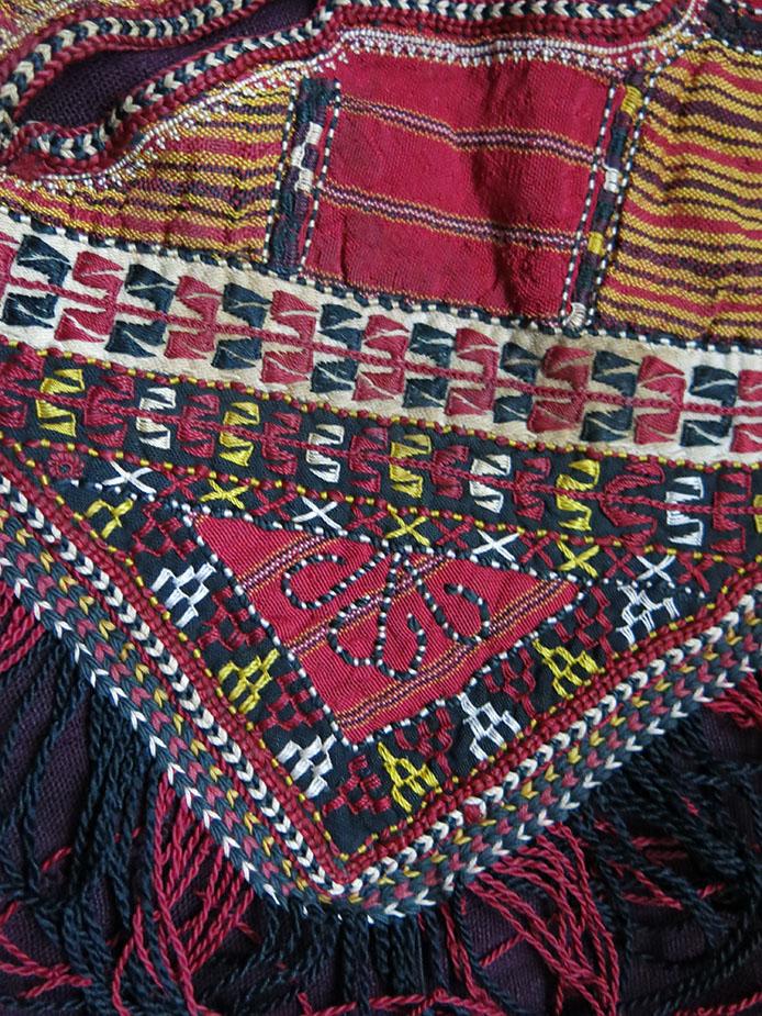 TURKMENISTAN Turkmen Yomud/Tekke tribe child's over shirt patchwork collar