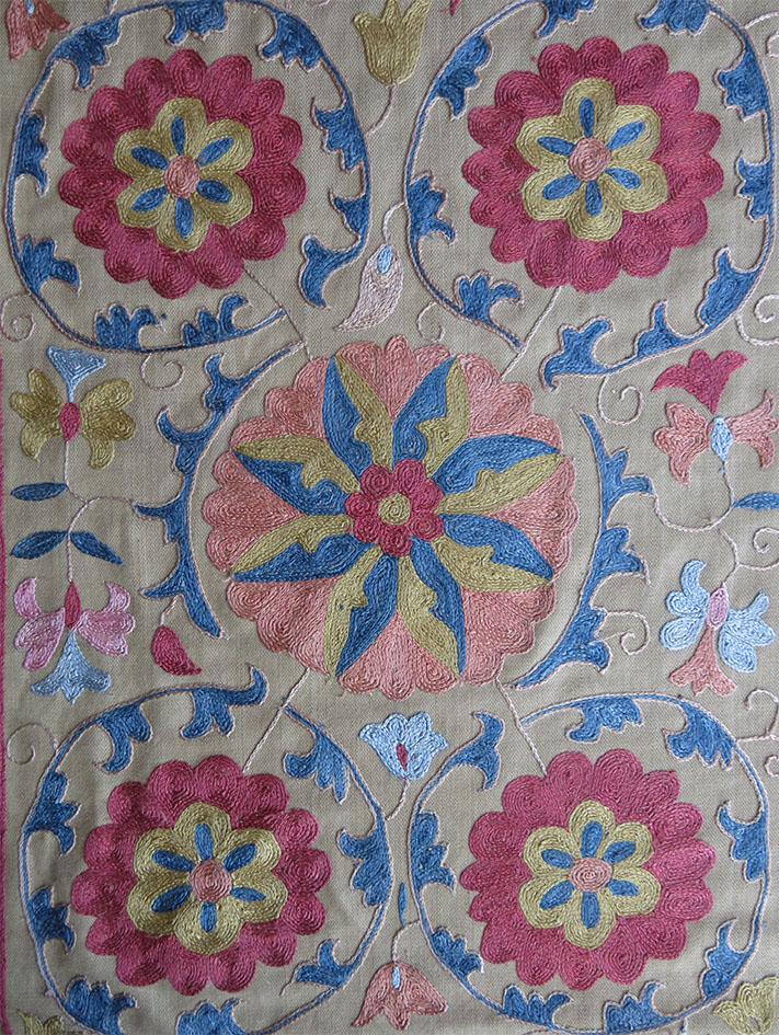 UZBEKISTAN SHAHRISABZ SILK Embroidery SUZANI