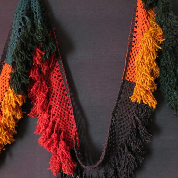 AFGHANISTAN LAKAI wool Braided band with tassels