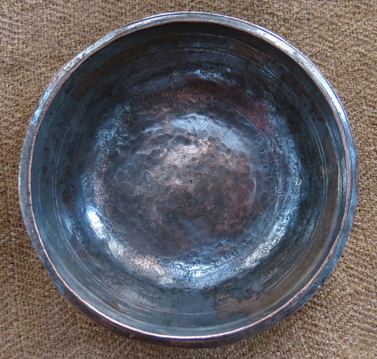 EASTERN TURKEY hand forged bronze small healing bowl