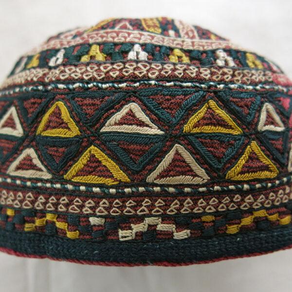 AFGHANISTAN Turkmen Chodor silk embroidered ethnic hat