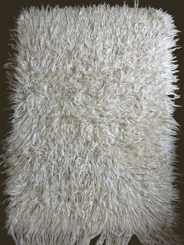 TURKEY CENTRAL KARAPINAR Angora TULU - Shaggy rug