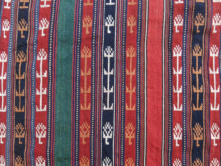 CENTRAL ASIA TURKMEN YOMUD hand woven YURT / TENT BAND