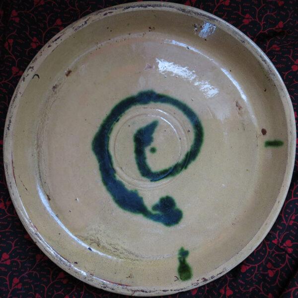 CAUCASUS DAGESTAN - DERBENT glazed ceramic plate