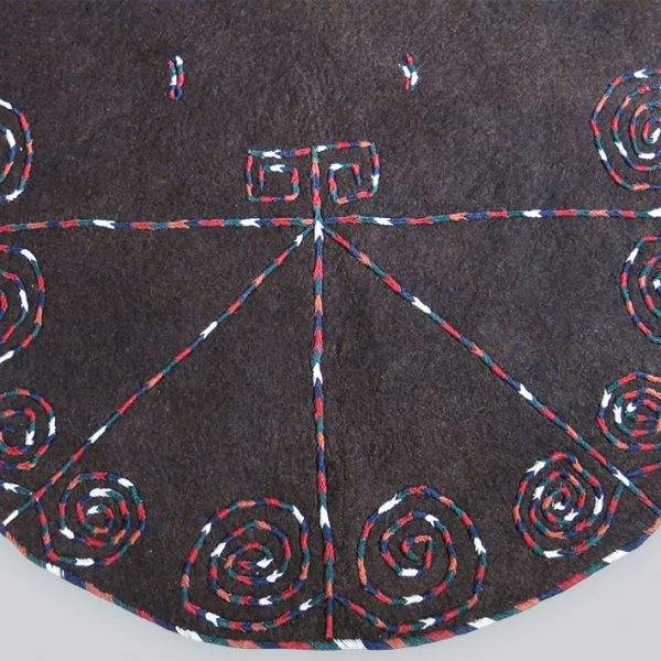 TURKMENISTAN - YOMUD ceremonial felt Horse blanket