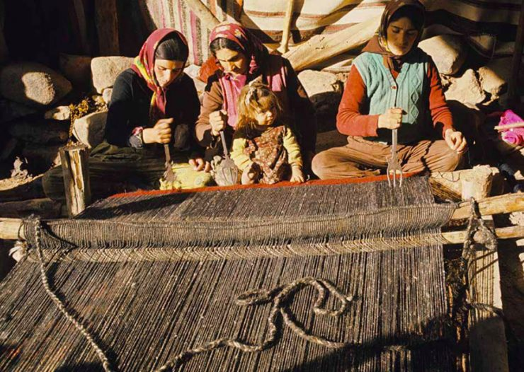 Trident weaving comb used by some Kurdish tribes