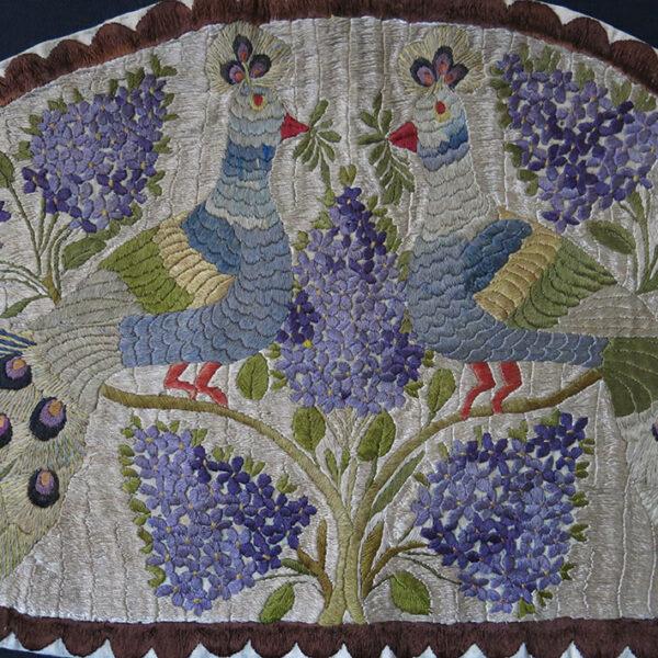 HUNGARY antique silk satin stitch embroidery