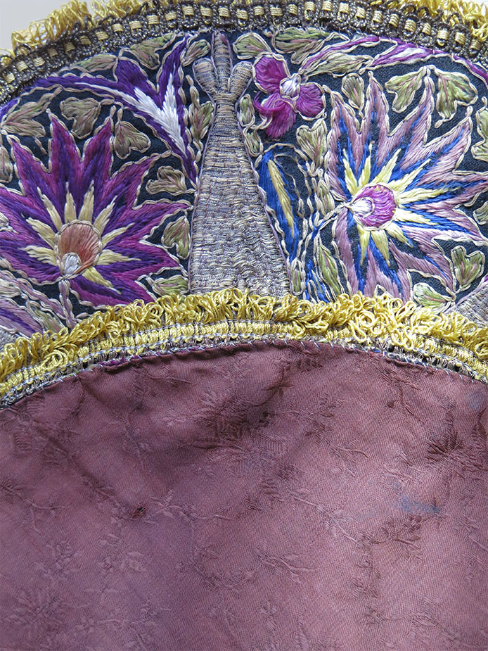 PERSIA - KASHAN - YAZD silk metallic embroidery