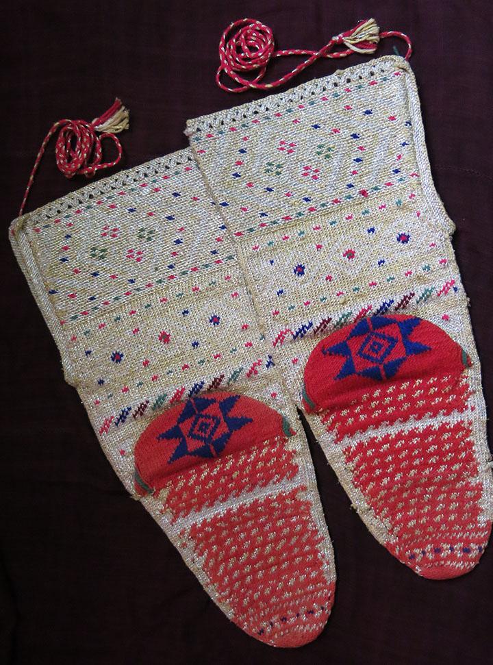 NORTH MACEDONIA Bridal pair of dowry socks