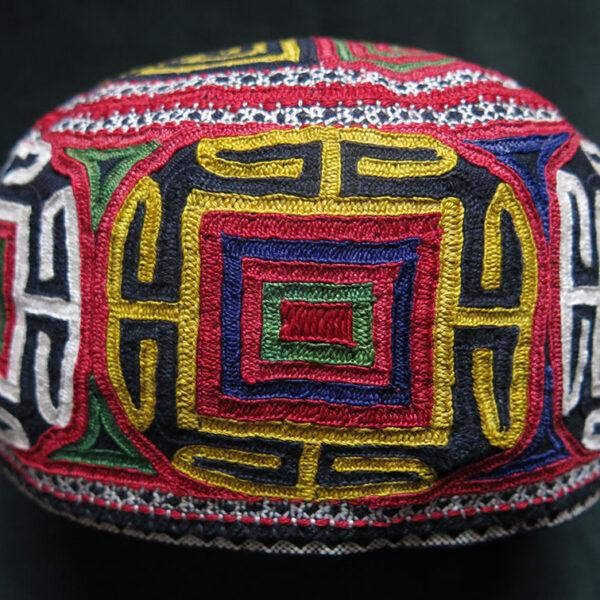 PERSIA TURKMENSAHRA - Turkmen Silk embroidery hat