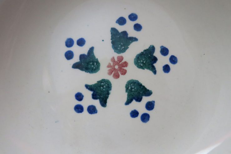 EUROPEAN Clay painted plates