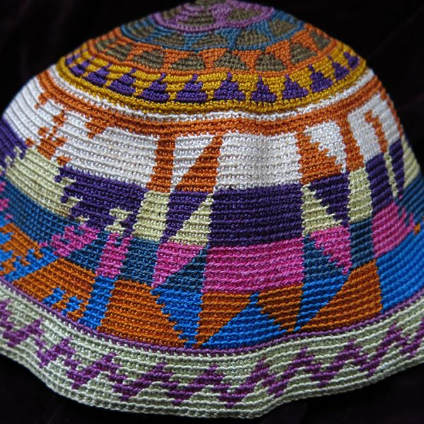 MIDDLE EAST LEBANON tribal hand knitted silk hat