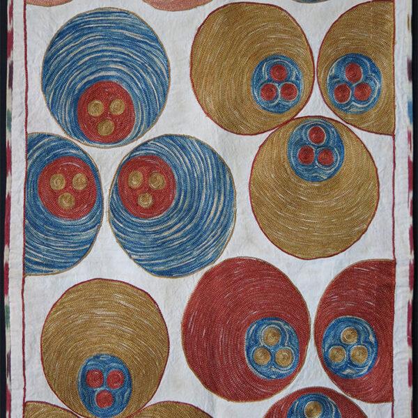 UZBEKISTAN - KERPICH Silk embroidery HANGING SUZANI
