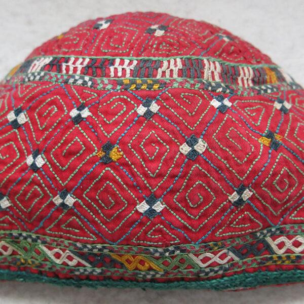 TURKMEN CHODOR Ceremonial silk embroidery HAT