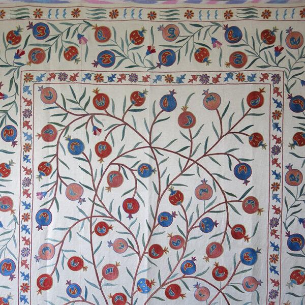 UZBEKISTAN - FARGAN VALLEY Silk embroidery SUZANI