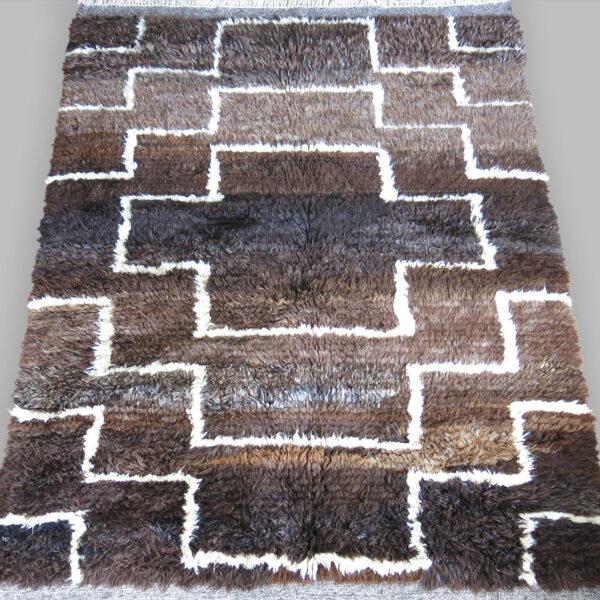WESTERN ANATOLIAN Tribal Turkmen Bear skin rug