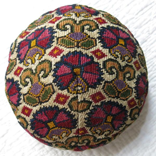 SHAHRISABZ Silk IROQI embroidered ethnic skullcap