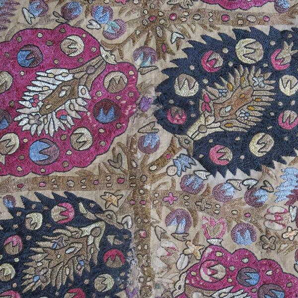 GREECE – Ottoman style silk embroidery Yastik