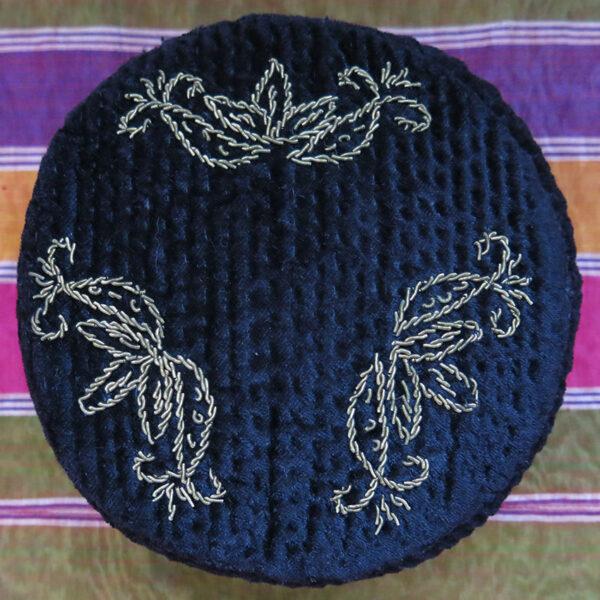 KAZAKHSTAN Metallic embroidered Velvet hat