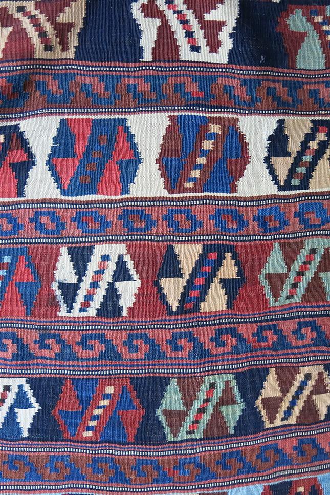 QASHKAI - LURI tribal all wool kilim