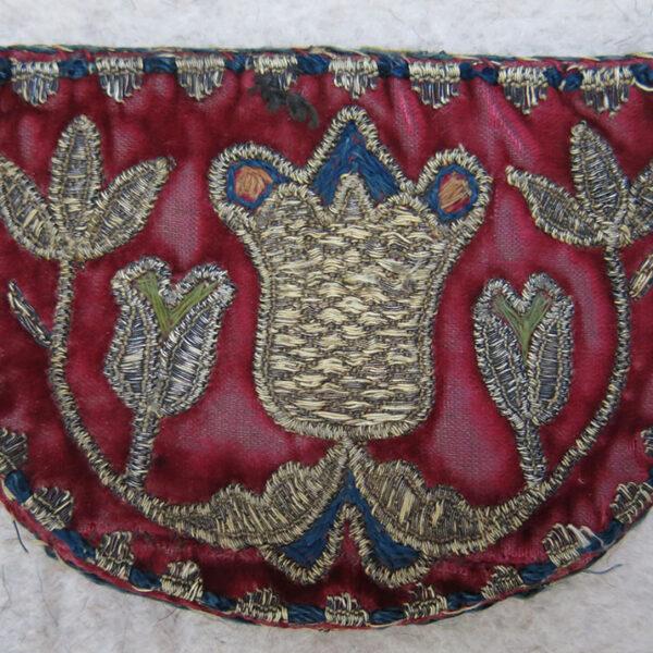 AZERBAIJAN – BAKU Antique Mirror and comb velvet bag