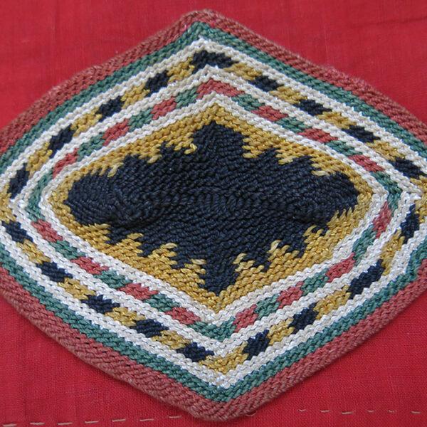 LEBANON KURDISH silk hand knitted bag