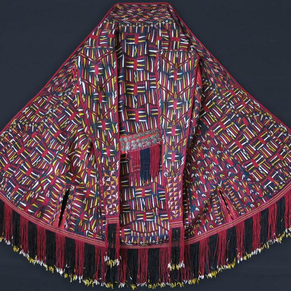 TURKMEN TEKKE antique silk embroidered Chirpy