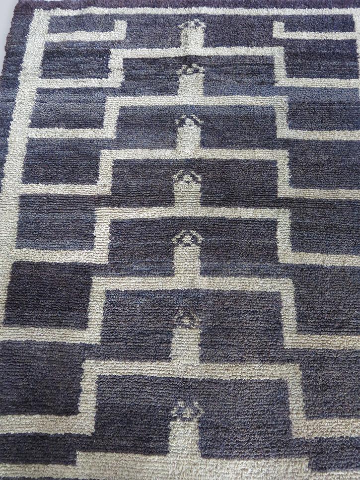ANATOLIAN Turkmen loop knotted village rug