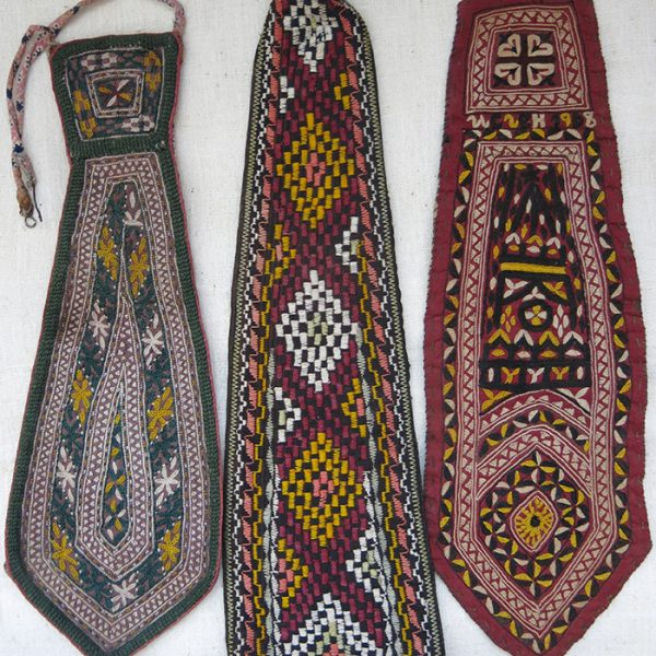 TURKMENISTAN - State official silk embroidered ties
