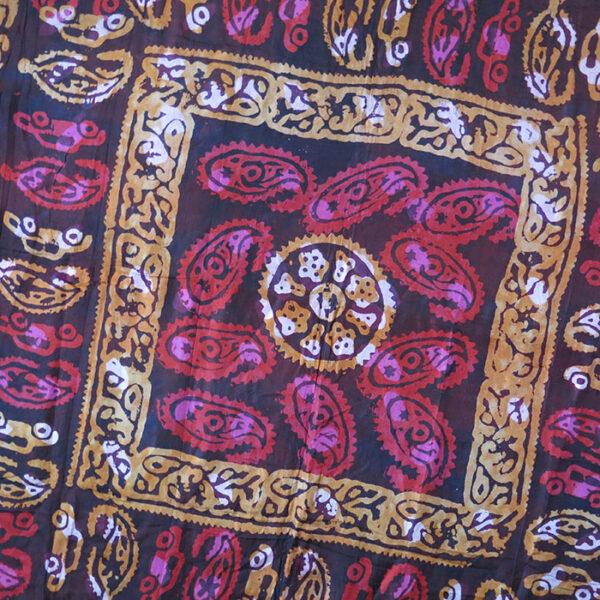 AZERBAIJAN TABRIZ Hand loomed ethnic tie-dye silk scarf