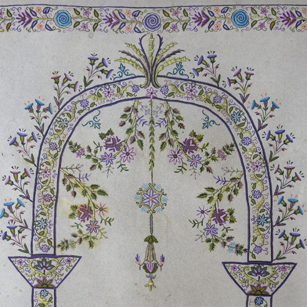 ANATOLIA IZMIR mercerized cotton Embroidery on felted wool