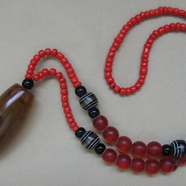 TIBETAN Antique DZI bead necklace