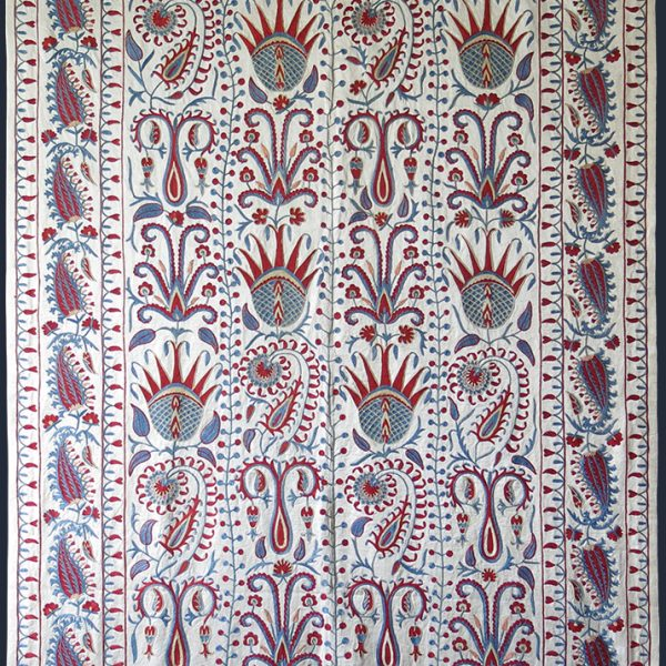 UZBEKISTAN FARGNA VALLEY Silk NEW Suzani