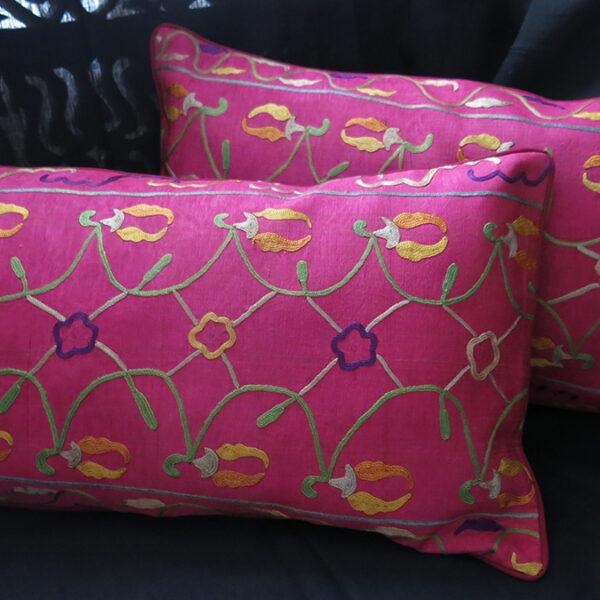 UZBEKISTAN Old Silk Ikat Pillow Covers