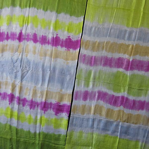UZBEKISTAN – TASHKENT pair of PLANGI tie-dye silk textiles