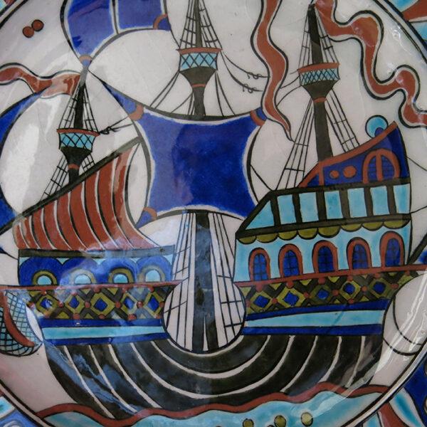 TURKEY KUTAHYA – SITKI OLCAR glazed ceramic plate